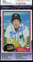 Mark Fidrych Jsa Coa Hand Signed 1981 Topps Authentic Autograph