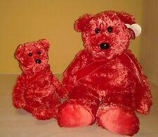 2001 Ty Beanie original Buddy & Beanie Baby 2 Teddy Bears Plush Sizzle
