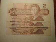 monnaie du canada 2$ 1986 subtitusions brx-ebx V-F