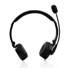 Bluetooth Headset Stereo Wireless Head-Wear w/ Boom Mic Noise Cancel Headphones