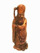 Asian Man Figurine ACTION Handcrafted Italian Resin Vintage Cheswick PA 7 inches
