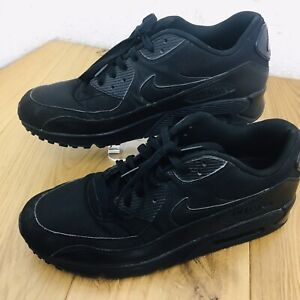 Nike Air Max 90 All Black Mens Trainers Shoes Size Uk11 46
