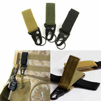 1/3PC Outdoor Tactical Webbing Molle Key Hook Hanging Buckle Belt Carabiner X6B1