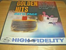 "PATTI PAGE-""GOLDEN HITS""  LP - MERCURY RECORDS MG 20495 - MONO - 1963 - USED"