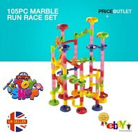 105PC MARBLE RUN RACE SET CONSTRUCTION BUILDING BLOCKS KIDS TOY GAME TRACK GIFT