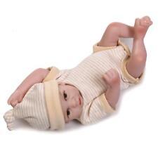 "Mini Reborn Baby Handmake Dolls 10"" Vinyl Realistic Baby Lifelike Boy Doll"