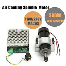 2017 ER11 500W CNC Air Cooling Spindle Motor + 52mm Holder + Speed Controller
