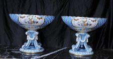 Paire français PORCELAINE SEVRES urnes tureens bols sur stands