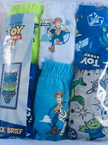 Brand new boys pack of 6 Disney Toy Story Briefs, age 5-6 years