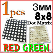 Dot Matrix LED 3mm 8x8 Red Green Common Anode 24 pin 64 LED Displays module