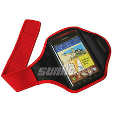 Red Sport Armband Case Cover for Samsung Galaxy Note III Note 3 Neo N9000