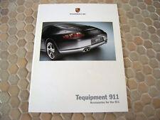 PORSCHE 911 997 CARRERA / S COUPE FIRST ACCESSORIES TEQUIPMENT BROCHURE 2005 USA