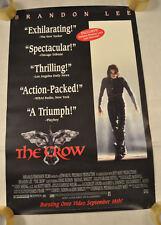 The Crow Brandon Lee Video Original One Sheet Promo Poster 26 x 40