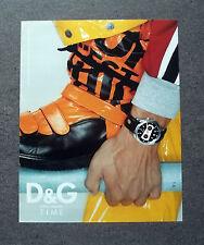 [GCG] K333- Advertising Pubblicità -anni '90- DOLCE & GABBANA TIME