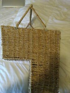Seagrass Stair Basket with handle