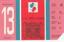 Ticket BOX BOXING European cup championship 1973 73 Belgrade Yugoslavia
