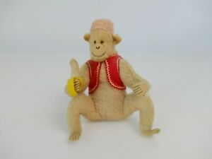 Vintage 1930's ? teddy circus monkey in waistcoat eating banana      |263