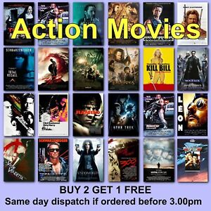 Poster Classic Action Movie Posters Film Gift for Husband Boyfriend HD Prints