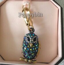 BRAND NEW! JUICY COUTURE PAVE OWL BRACELET CHARM IN TAGGED BOX