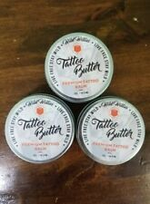 Lot of (3) WILD WILLIES TATTOO BUTTER Premium Tattoo Balm Butter 2 oz. Organic
