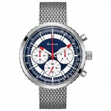 NEW BULOVA ARCHIVE SPECIAL EDITION CHRONOGRAPH C STAINLESS STEEL BRACELET 96K101