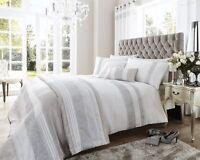 White and Silver Dallas Diamante Bedding Sets