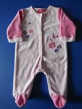 'SPROUT' BABY GIRL SOFT VELOUR COVERALL SIZE 000 FITS 0-3M