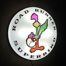 PLYMOUTH ROAD RUNNER SUPERBIRD LED WALL LIGHT SIGN LOGO GARAGE BADGE AUTO USA