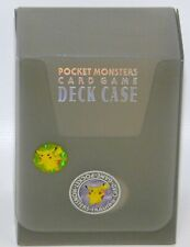 Pocket Monsters Card Game Deck Case EMPTY Vintage Japanese Pokemon 1996 Gray A