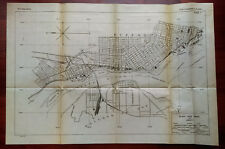 1919 Sketch Diagram of Black Rock Canal NY Squaw Island Bridgeburg Railroads