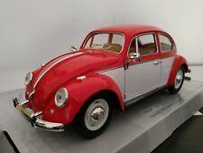 VW escarabajo rojo-blanco 1:24 Kinsmart maqueta de coche