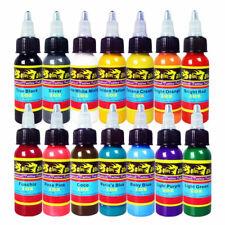 Solong Tattoo&reg 14 Basic Colors Tattoo Ink Set Pigment Kit 1oz (30ml) Profess