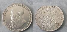Saxe-Meiningen 1915 (Germany) silver 2 Mark, NICE, Scarce