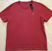 Men's Polo Ralph Lauren Short Sleeve T-Shirt Size XL X-Large Red NWT $45 New NWT