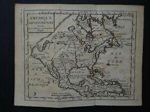 1736 DUFRESNOY Atlas map  NORTH AMERICA - Amerique Septentrionale