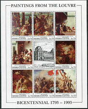 SIERRA LEONE #1615 VF Never Hinged Miniature Sheets - Paintings Louvre Delacroix