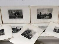 Théodore Rousseau Lot de 11 Gravures Salmon Paris Paysage Peinture XIXeme An