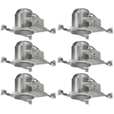 "6 Pack - 6"" New Construction LED Can Air Tight IC Housing LED Recessed Lighting"