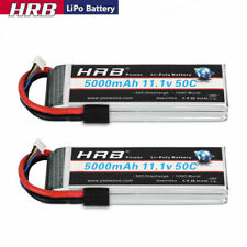 2pcs HRB 3S 5000mAh 11.1V LiPo Battery 50C Traxxas for Car Truck Helicopter