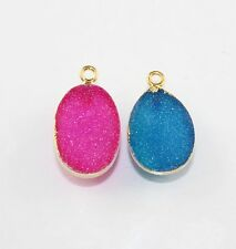 Hot Sale Stunning Sugar Druzy 24k Gold Plated Connector Making Jewelry D-3830
