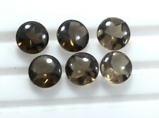 9.75 Ct 7 Pcs Natural Smoky Quartz Loose Gemstone 8mm Round Buff Top Cut Lot S53