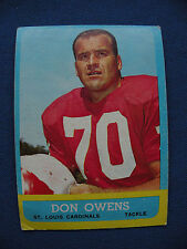 1963 Topps #156 Don Owens St. Louis Cardinals card $1 S&H NFL football