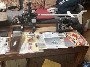 Kalt Enforce Nitro Rc Helicopter Vintage Parts  Not Finished Remote