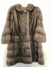 *** Carlo Ramello  *** Luxus Nerz Visone Mink Fur Mantel IT42 DT36 Grau Quer