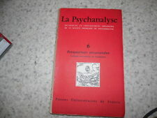 1961.Psychanalyse N°6.Perspectives structurales.Lacan Lagache