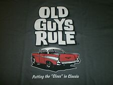 "OLD GUYS RULE 1957 CHEVY PUTTING THE ""CLASS IN CLASSIC S/S SIZE XXL T-SHIRT"
