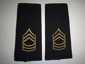 Pair Of US Army MASTER SERGEANT Rank Large Shoulder Badges Epaulets