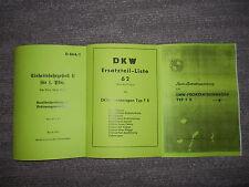 Beschreibung Einheitsfahrgestell II Pkw, EMW-Frontantriebswagen F9 & ETL DKW F8