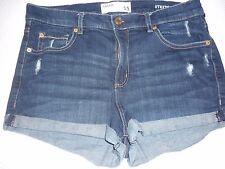 """Garage Denim Jeans Retro High Waist Short-Stretch/Destroyed Size 11~31"""" W"""