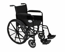 New Luxury Folding Self Propelled Wheelchair, Flip Up Removable Footrests